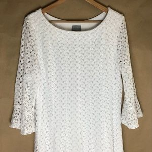 Rabbit Rabbit Rabbit Designs White Lace Dress, XL